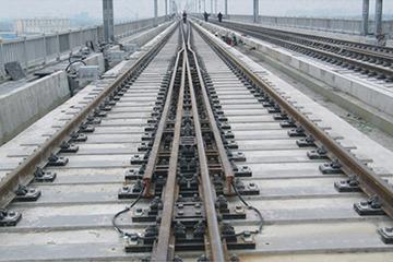 350公里客运专线铁路60kg每米钢轨42号单开道岔