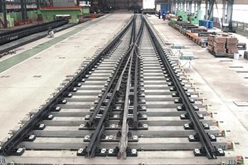 250公里客运专线铁路60kg每米钢轨18号单开道岔