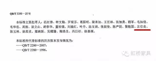 中华人民共和国办公家具行业标准起草单位 — 佛山市虹桥家具有限公司