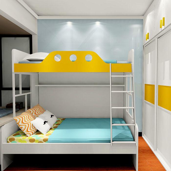 小户型二胎首选 儿童房上下床 容纳你的顽皮
