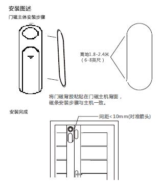 智能無線門磁報警器 KR-D12