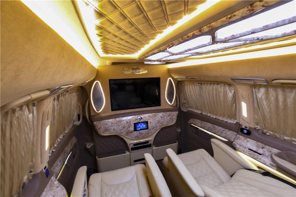 房车e家,皇家级奔驰v260豪华商务房车内饰改装