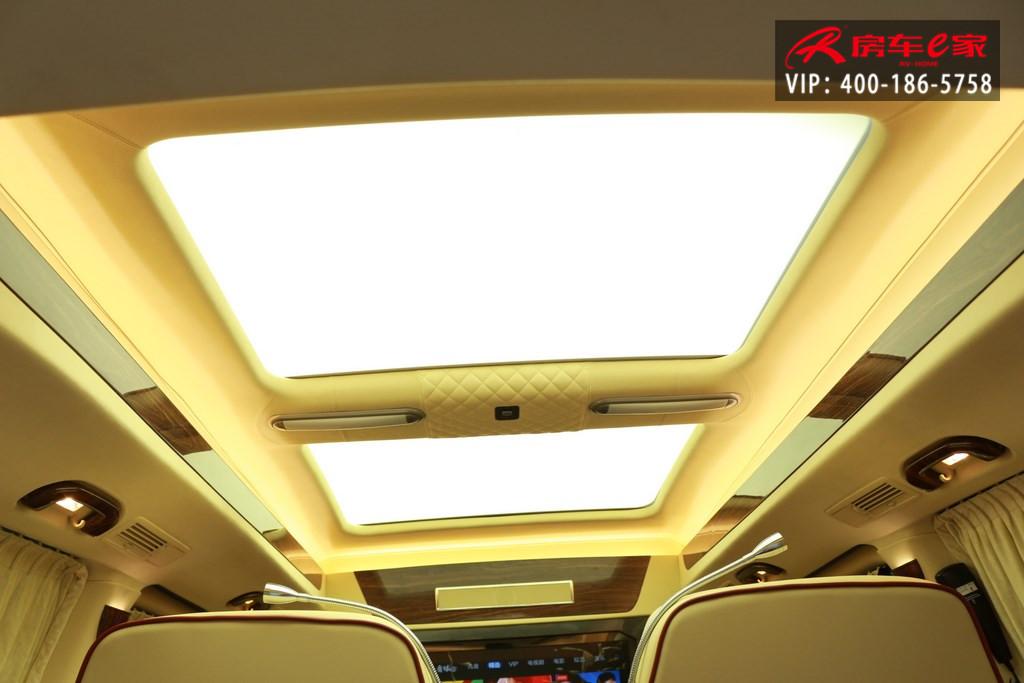 名门贵公子奔驰v260商务房车豪华改装深红