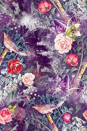 抽象磨砂紫色炫彩花型