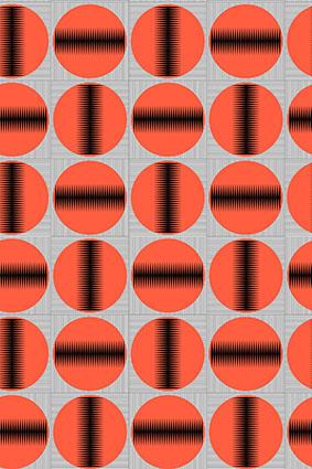 圆圈波浪线黑线图饰