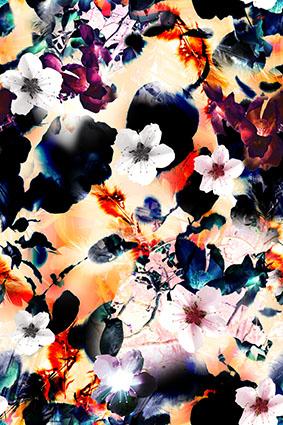 抽象斑斓艺术创意花卉