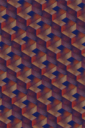 磨砂溶解三维立体几何图