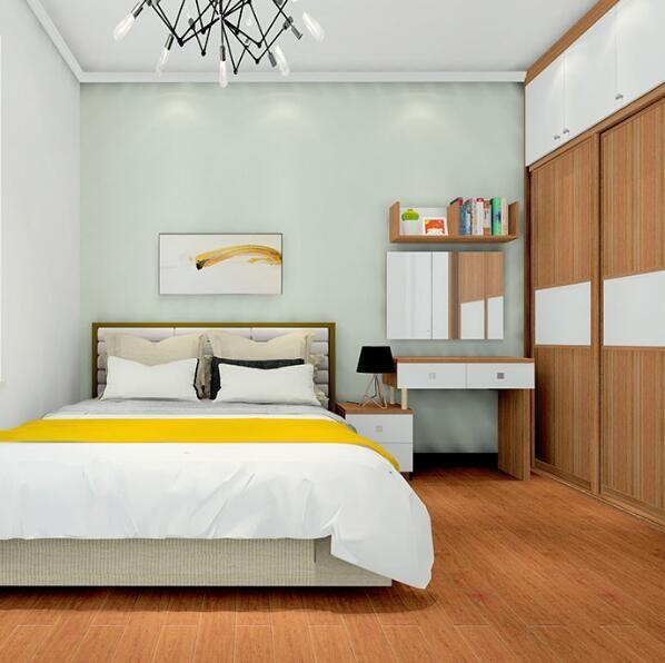 简约卧室衣柜+梳妆台整体效果图