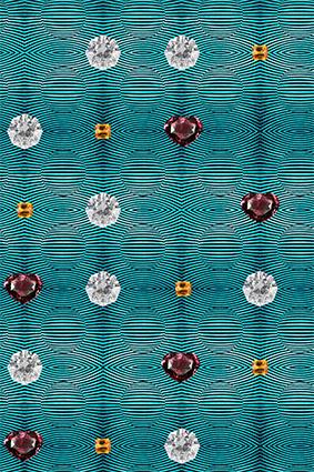 纹理三维波线闪亮钻石