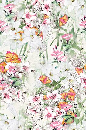 手绘元素女装流行花卉