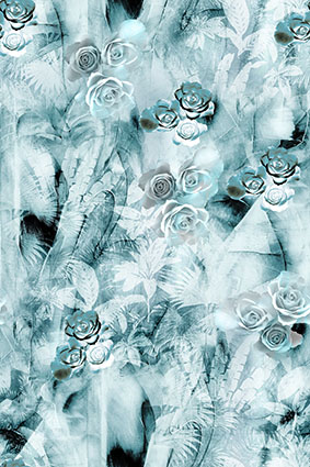淡雅浅蓝流行花型