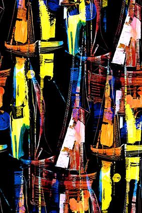 艺术彩笔抽象图案