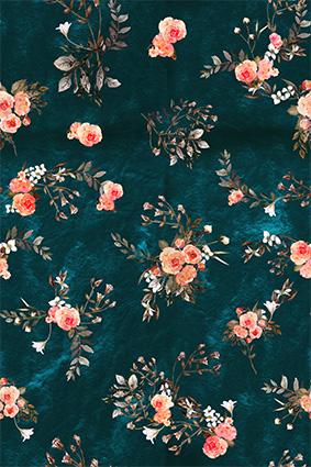 墨绿海景装饰粉花