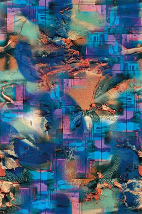 抽象水彩岩石斑斓色彩