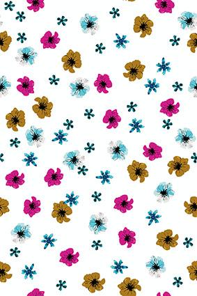 矢量素描植物小花朵