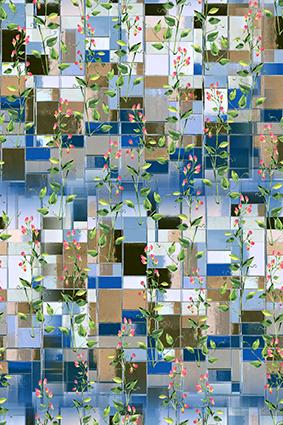切片玻璃方块唯美束花