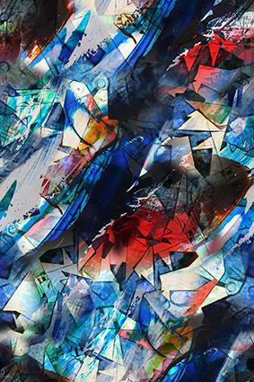 抽象切片色块效果图绘