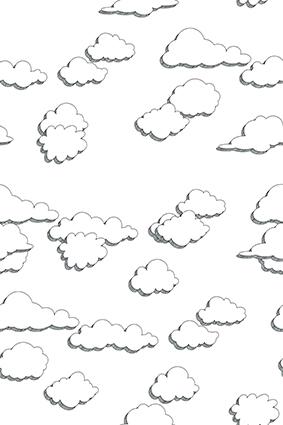 矢量立体斜线白云