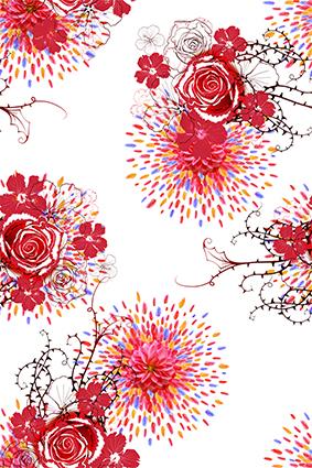 色彩怡人溢彩花卉
