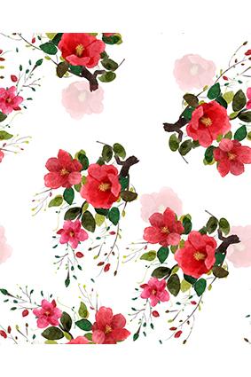 红艳小花朵娇媚花卉