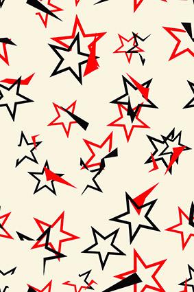 卡通叠加边框五角星