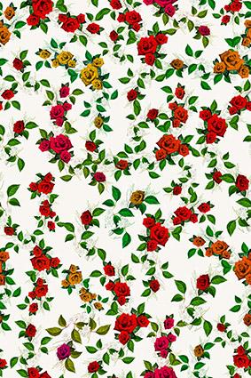 装饰植物绿叶小碎花