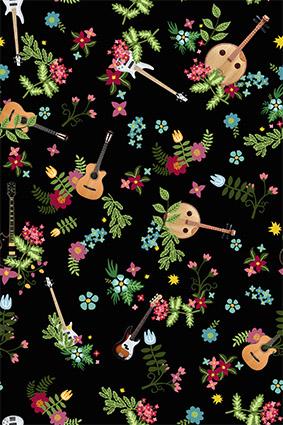 装饰小碎花古典吉他