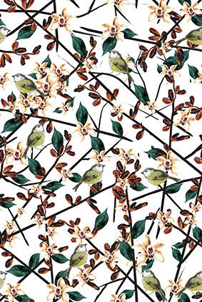 绿色树叶元素花卉