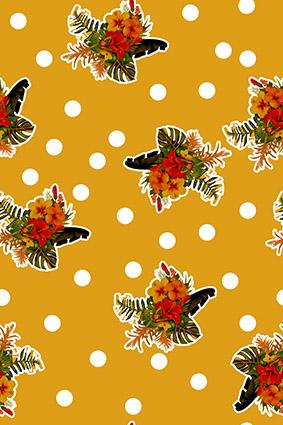 橘黄波点装饰花坛