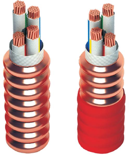 柔性軋紋銅護套礦物絕緣電力電纜