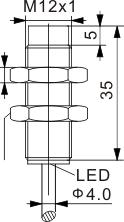 圆柱型电感式接近开关 M12