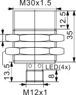 圆柱型电感式接近开关 M30