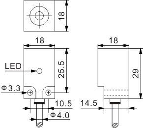 方型电感式接近开关 Q18