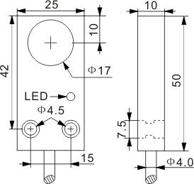 方型电感式接近开关 Q25