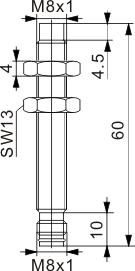 模拟量输出型电感式接近开关 M8