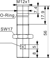 耐高压力型电感式接近开关 M12
