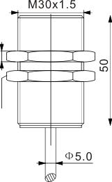 模拟量输出型电感式接近开关 M30