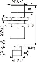 模拟量输出型电感式接近开关 M18