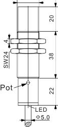 电容式接近开关 M18