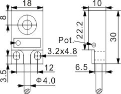 圆柱型电容式接近开关 Q18