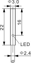 圆柱型电感式接近开关 Ф3