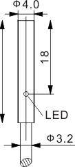 圆柱型电感式接近开关 Ф4