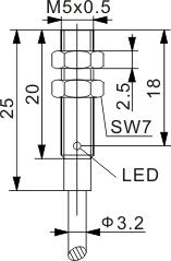 圆柱型电感式接近开关 M5
