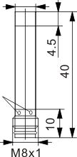 圆柱型电感式接近开关 Ф6.5