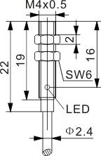 圆柱型电感式接近开关 M4