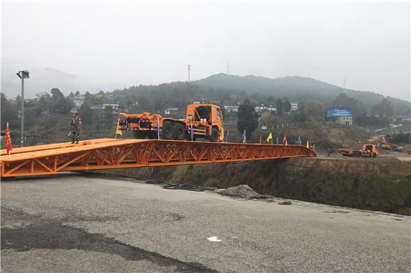 中国应急装备亮相2019年度四川省公路交通地震联合应急演练