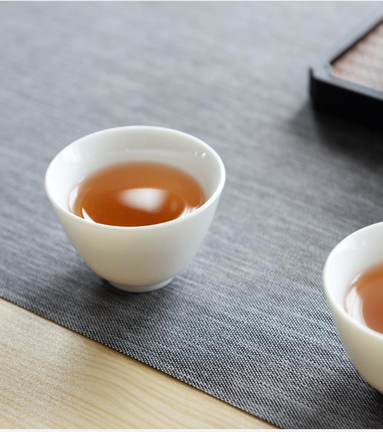 家用白瓷羊脂玉茶具功夫礼品茶具定制